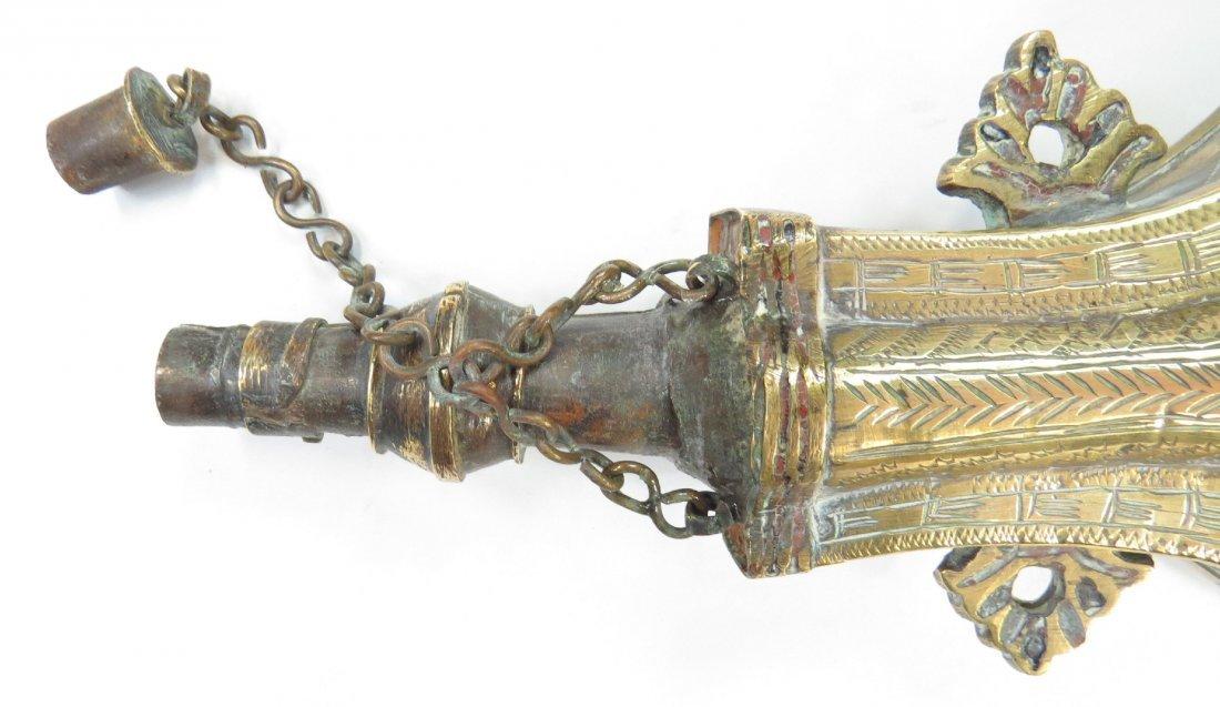 A MOROCCAN POWDER FLASK - 3