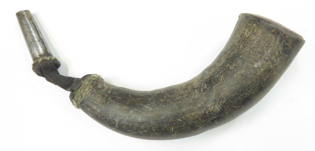 A TIBETAN POWDERHORN