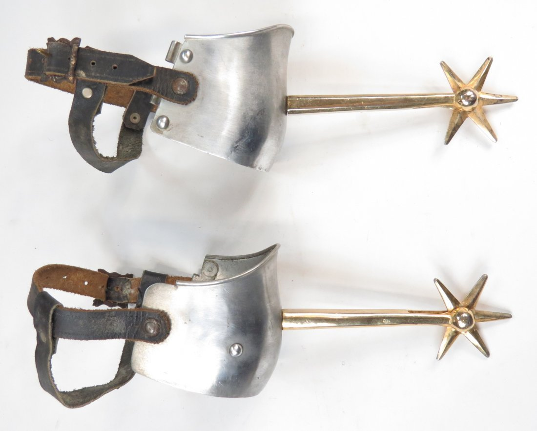 A PAIR OF VICTORIAN KNIGHTLY SPURS - 2