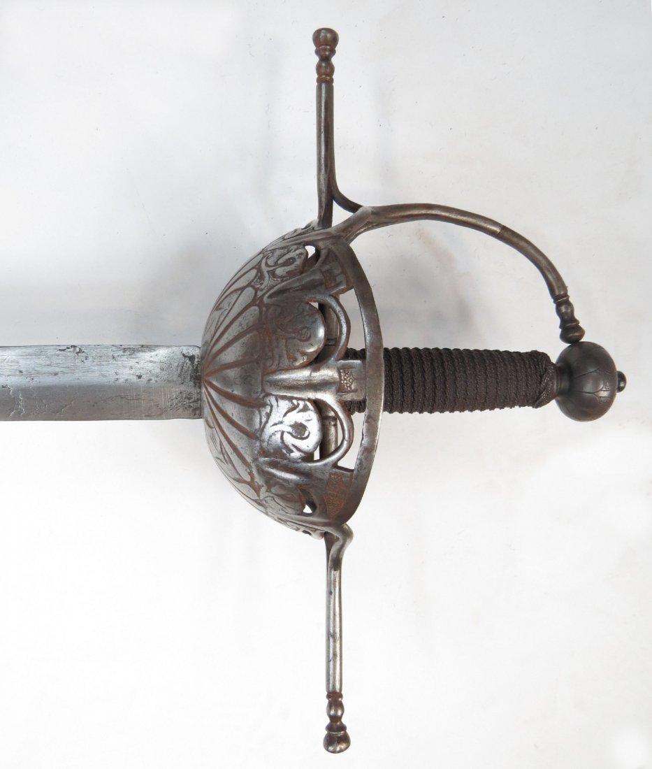 A SPANISH RAPIER SWORD - 6
