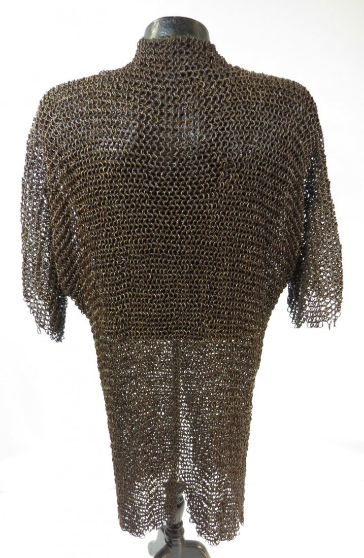 A PERSIAN COAT OF MAIL ARMOR - 4