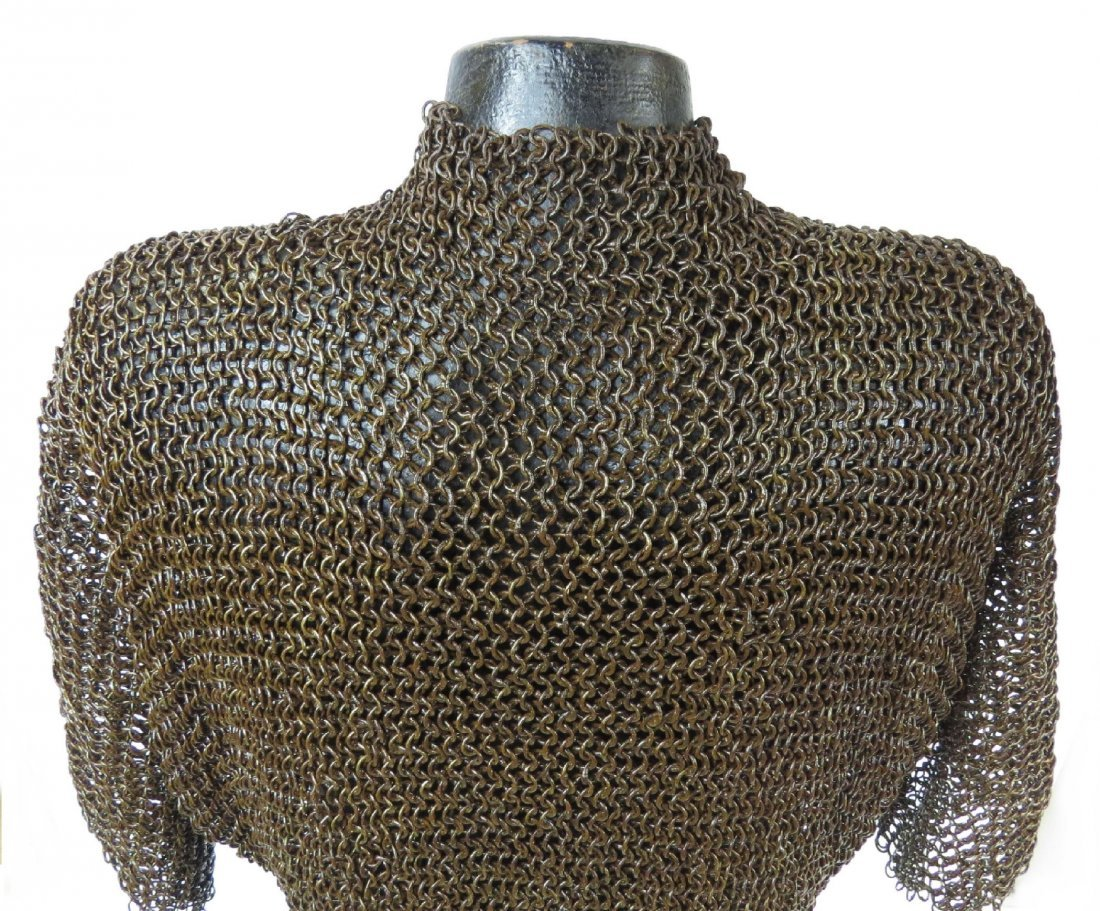 A PERSIAN COAT OF MAIL ARMOR - 5