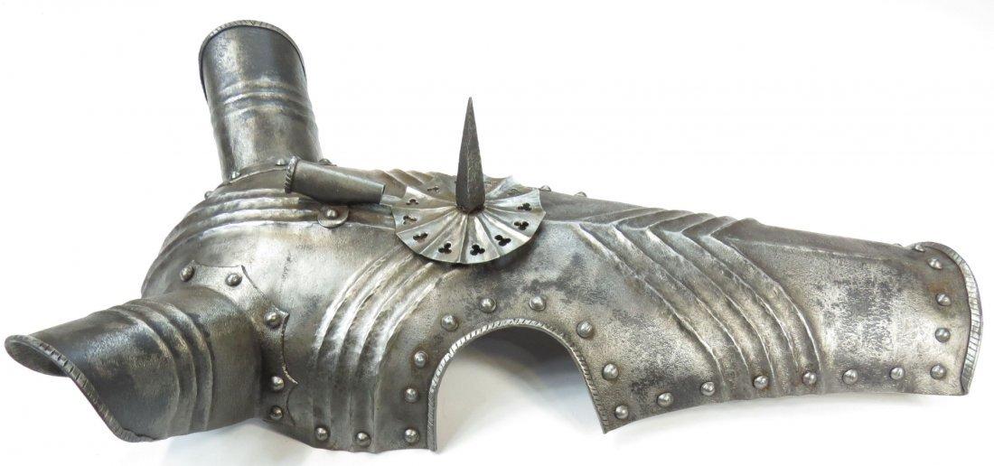 A VICTORIAN-ERA GOTHIC ARMOR CHANFRON - 4