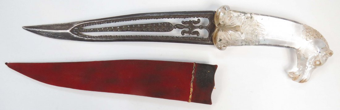 AN INDIAN KHANJAR DAGGER - 5