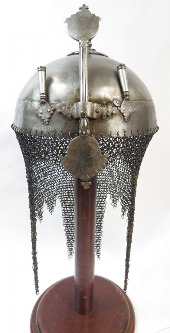 AN INDIAN TOP HELMET