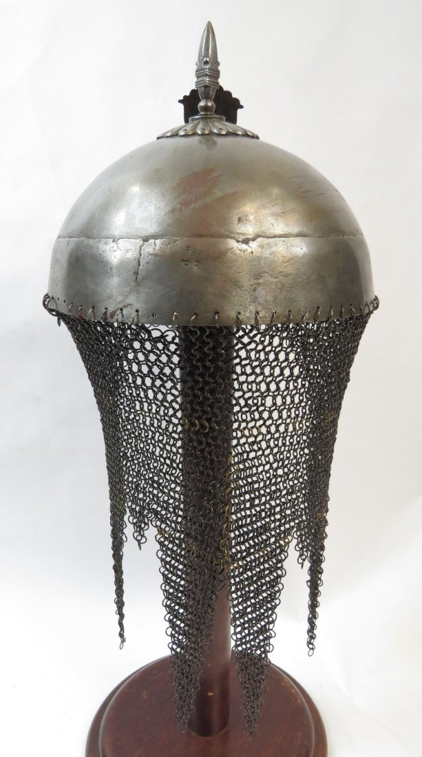 AN INDIAN TOP HELMET - 3