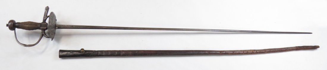 A SPANISH COLONIAL RAPIER SWORD - 6