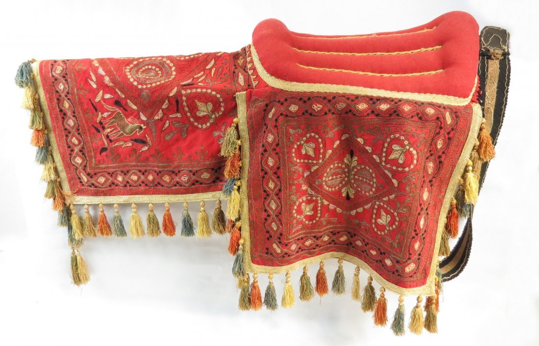 A PERSIAN PARADE SADDLE WITH TRAPPINGS