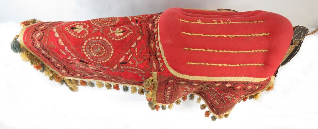 A PERSIAN PARADE SADDLE WITH TRAPPINGS - 2