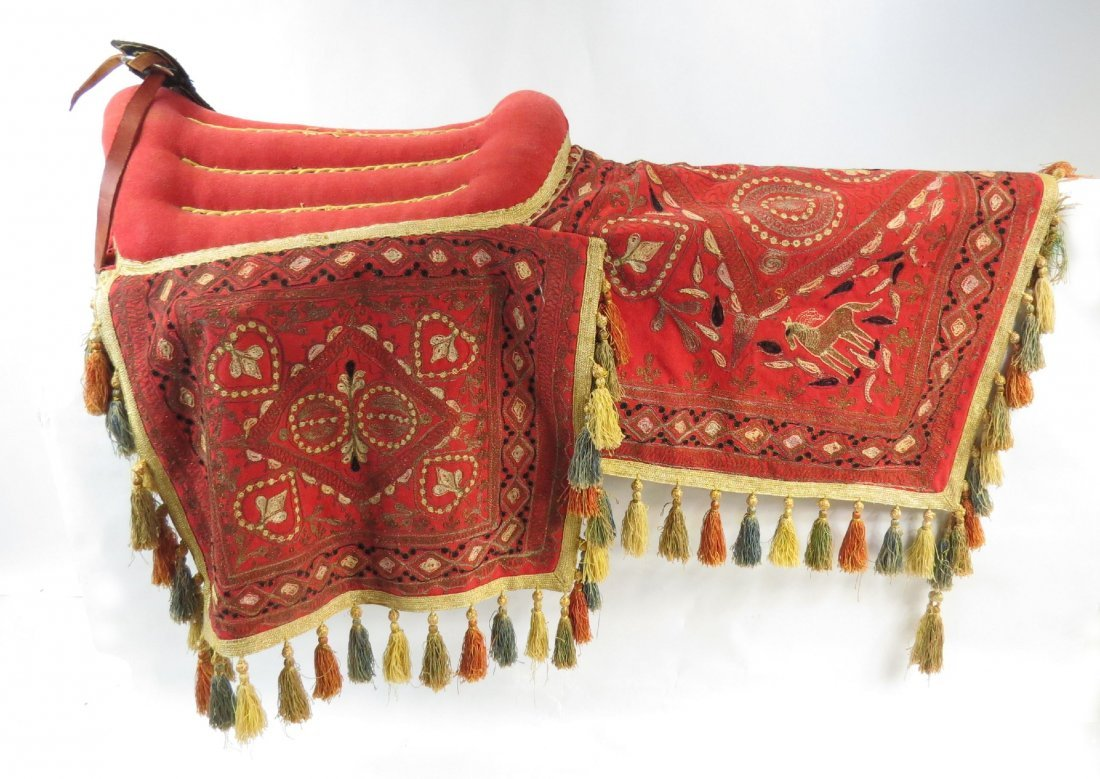 A PERSIAN PARADE SADDLE WITH TRAPPINGS - 3