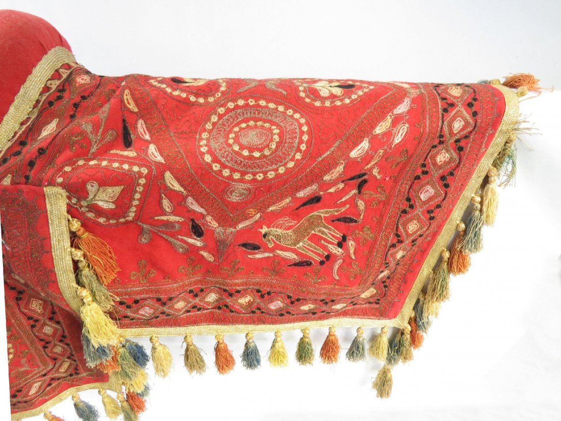 A PERSIAN PARADE SADDLE WITH TRAPPINGS - 4