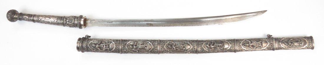 A FINE BURMESE DHA SWORD - 9