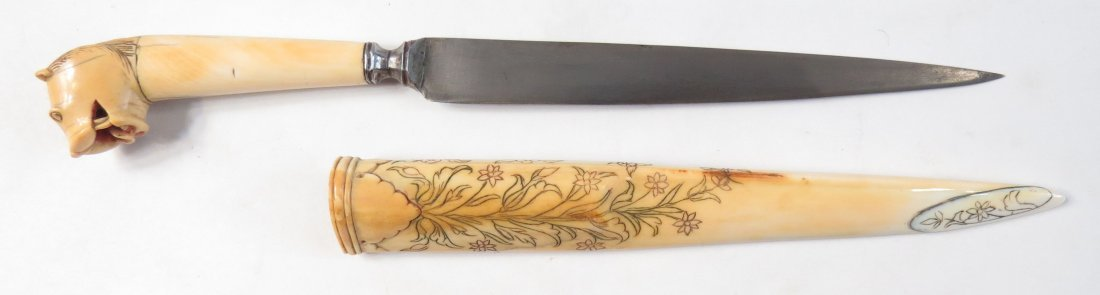 A FINE INDIAN TIGER-HEADED DAGGER - 5