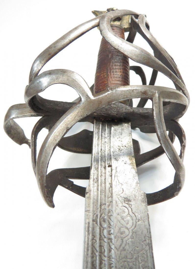 A RARE VENETIAN SCHIAVONA SWORD - 9