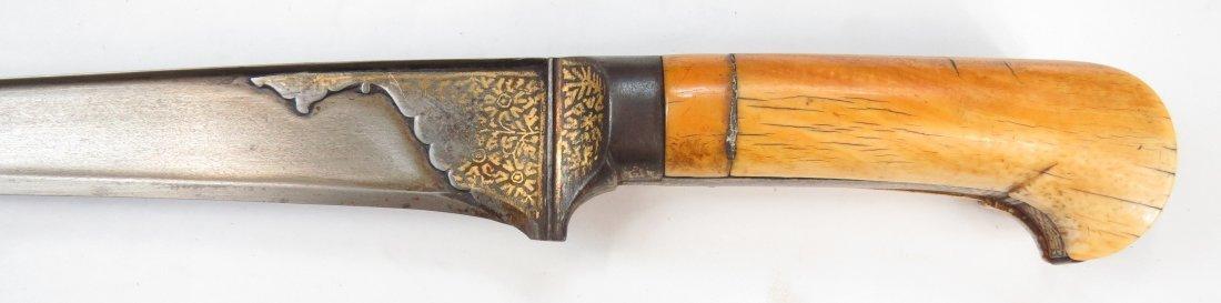 AN INDIAN PESH QABZ DAGGER - 7