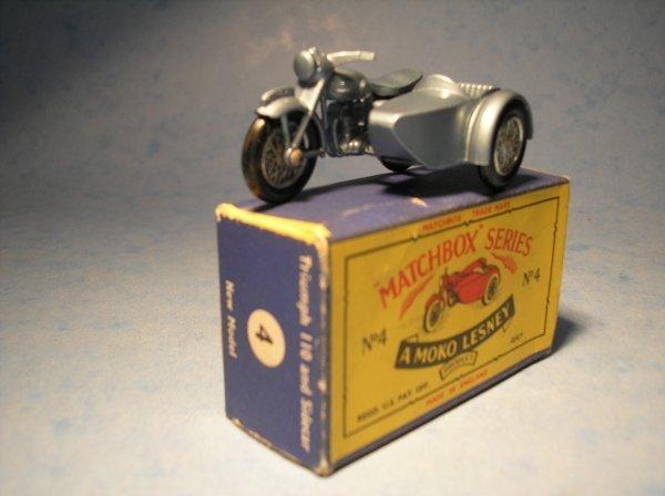 22: Matchbox 4C Triumph Motorcycle & Sidecar