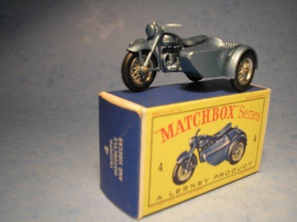 23: Matchbox 4C Triumph Motorcycle & Sidecar