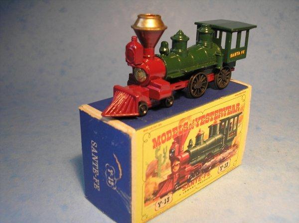 300: Matchbox Yesteryear Y13, Santa Fe, Locomotive1862