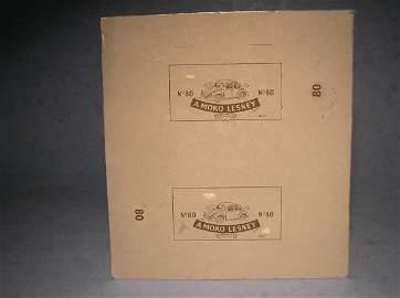 352: Matchbox 80 Original Printing Plate