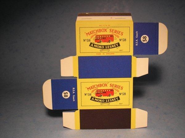 355: Matchbox 58A Original Box