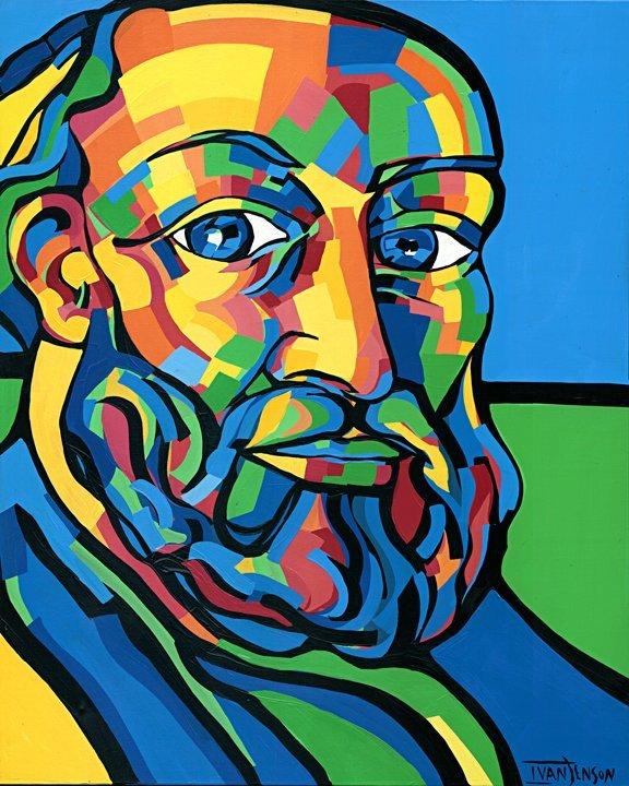 "4: Cézanne Original by Ivan Jenson 48"" x 60"""
