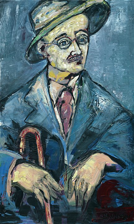 "12: ""James Joyce""  Original by Ivan Jenson 36"" x 60"""