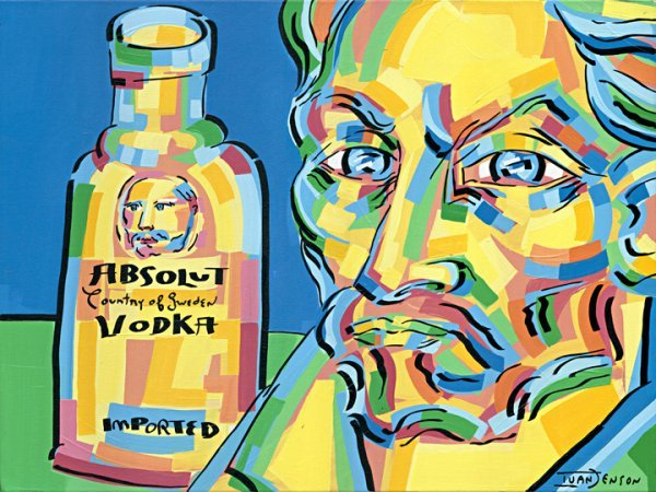 "14: ""Absolut Van Gogh"" Original Ivan Jenson 30"" x 40"""