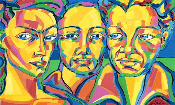 "16: Frida Kahlo Diego Rivera Ivan Jenson 36"" x 60"""