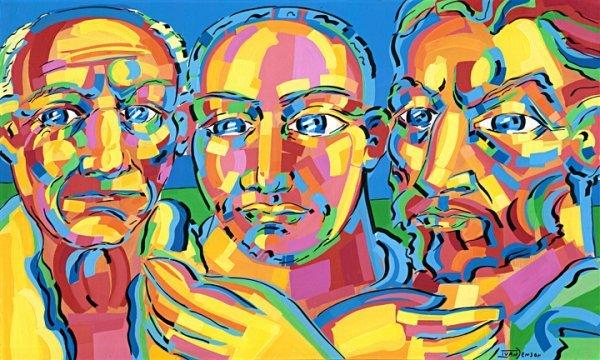 "17: Pablo Picasso Van Gogh Ivan Jenson Original 36""x60"""
