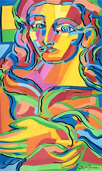 "21: ""Matisse's Daughter"" Original Ivan Jenson 36"" x 60"""