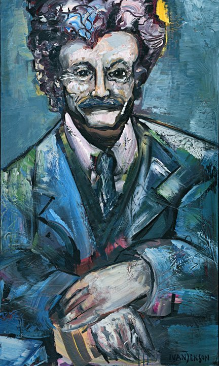 "22: Kurt Vonnegut, Jr. Original by Ivan Jenson 36""x60"""