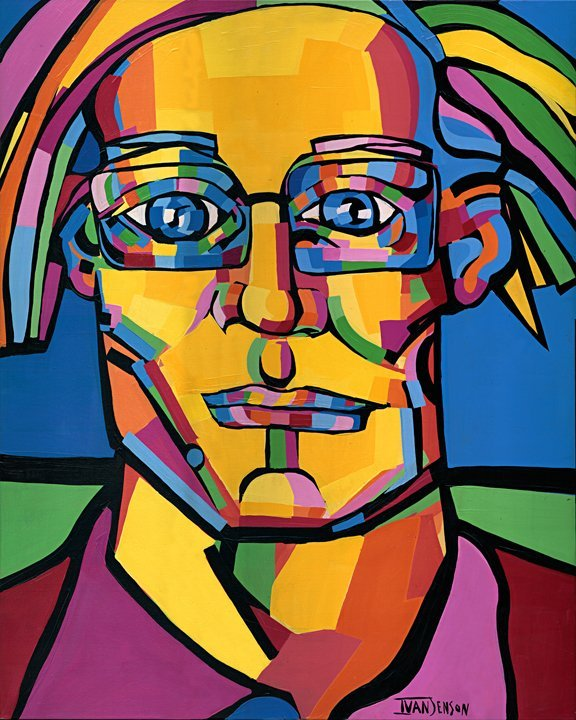 "110: Andy Warhol Original by Ivan Jenson 48"" x 60"""