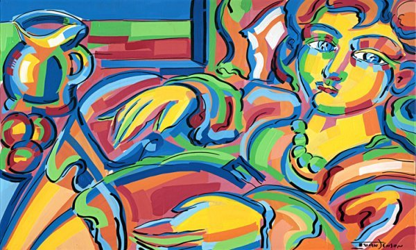 117: Reclining Woman Original by Ivan Jenson 36 x 60