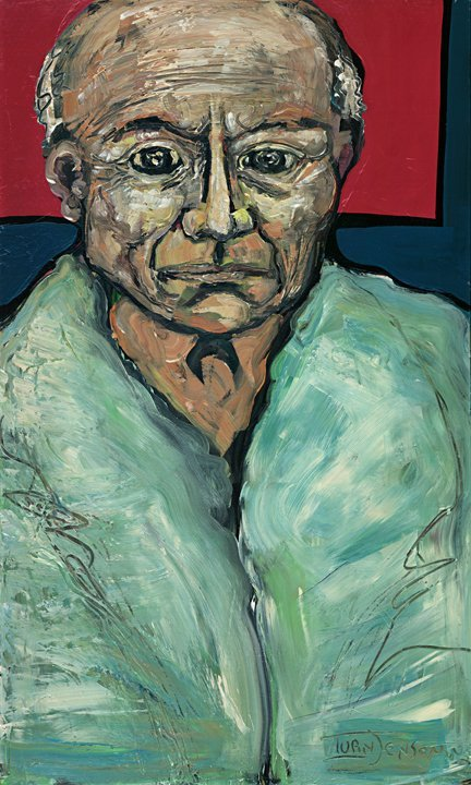 121: Picasso in Blue Robe Original Ivan Jenson 36 x 60
