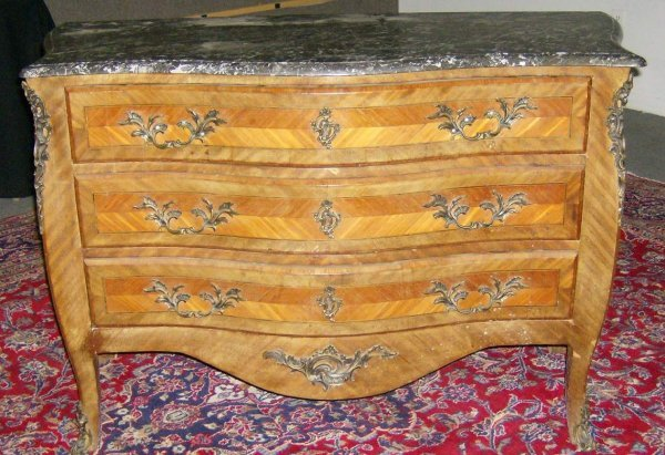 21: French marble top commode