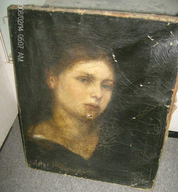 13: Oil on canvas Portrait of a Woman