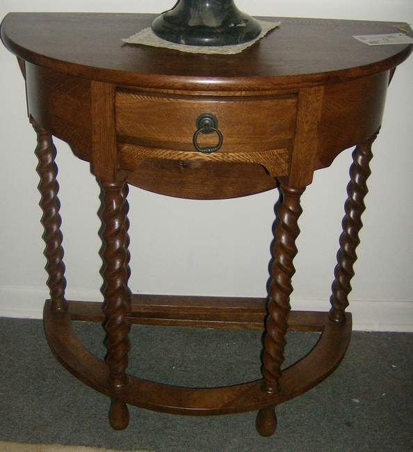 4: One drawer demilune stand