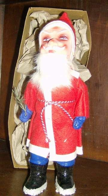 308: Papier mache Santa with original box