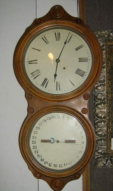 438: St Thomas double dial calendar wall clock