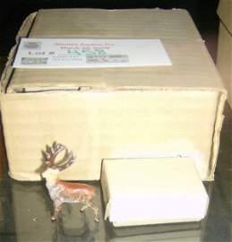 458: 24 Coal painted deer in original boxes
