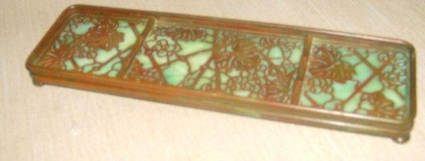 7: Tiffany Studios Grapevine Pen tray # 1004