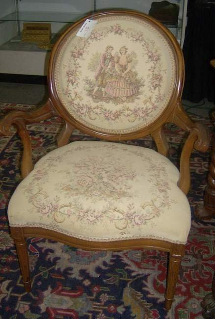 10: Pair of needlepoint armchair