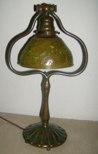 16: Tiffany Studios New York harp lamp #424