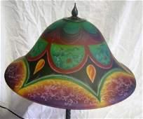 101: Reverse painted table lamp Ulla Darin