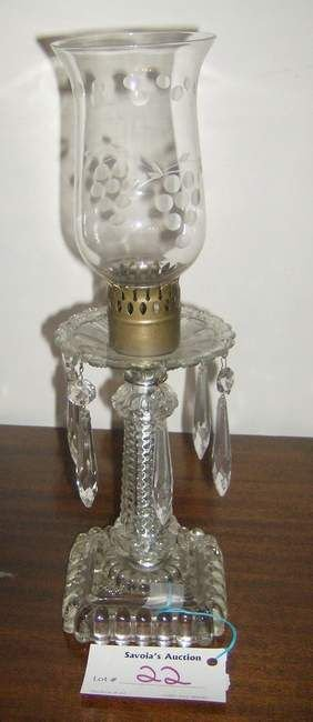 22: Pair of Hurrcaine lamps with prisms