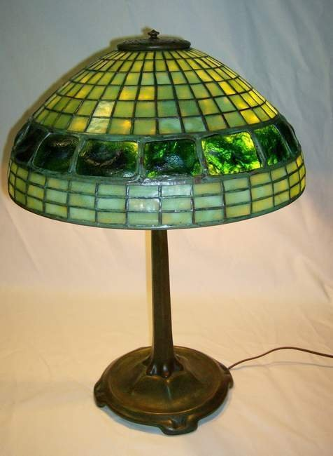 420: Tiffany Studios Turtleback lamp