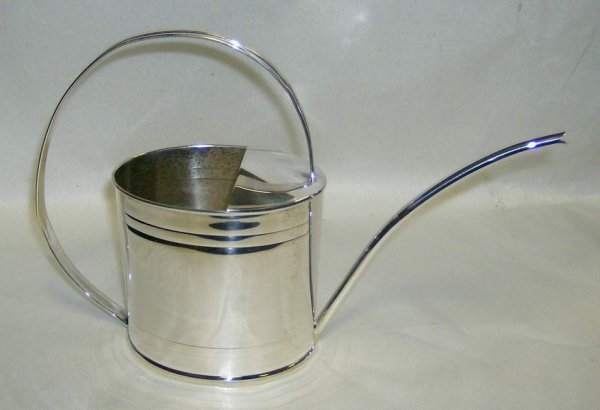 316: Cartier sterling watering can, handmade