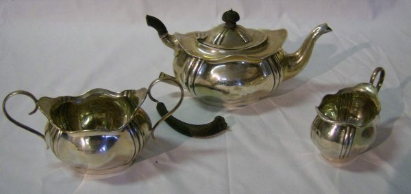 317: Sterling coffee set (as is)