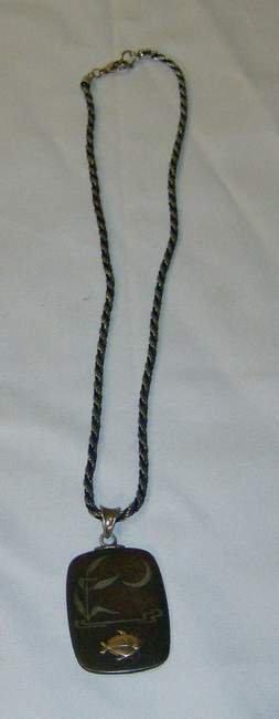 320: Geo Jensen fish necklace, signed