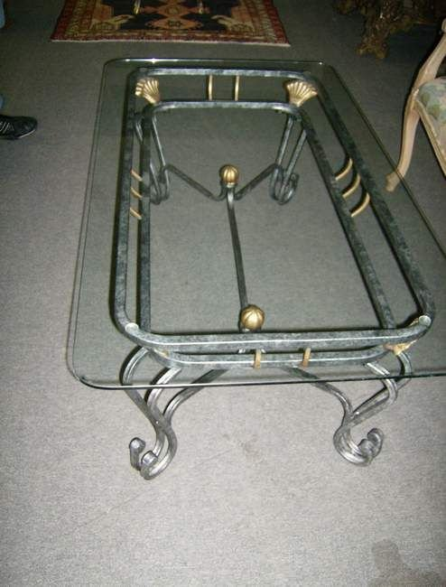 304A: Glass top coffee table